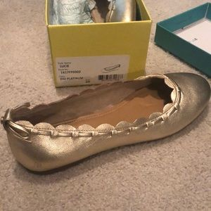 Gold Jack Rogers flats New in the Box! Size 8